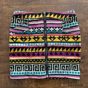 Divided by H&M Aztec Tribal Skirt
